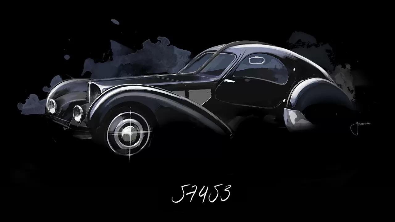 Bugatti Type 57 Aérolithe... ou appelez la Atlantic 11