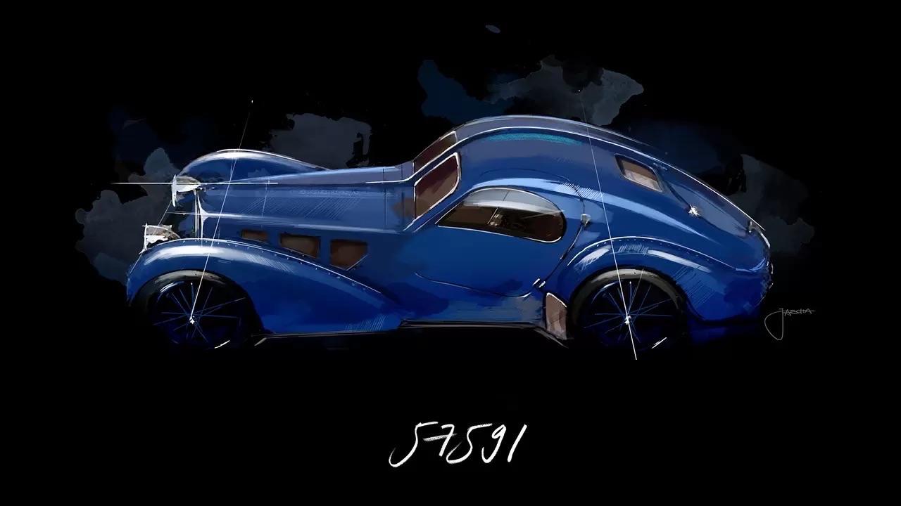 Bugatti Type 57 Aérolithe... ou appelez la Atlantic 14