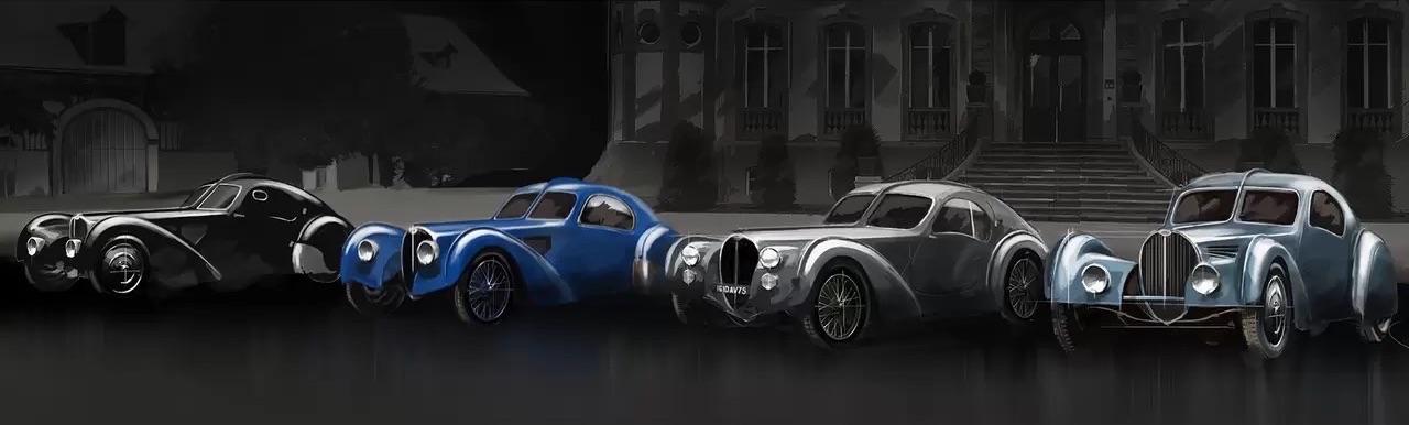 Bugatti Type 57 Aérolithe... ou appelez la Atlantic 16