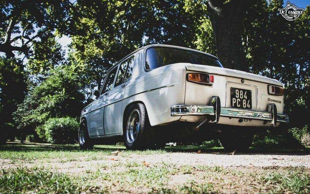 '67 R8 Gordini 1300 blanche… oui, blanche.