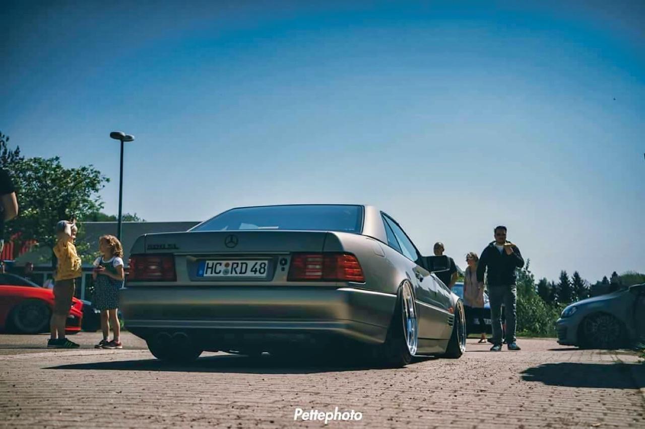 Bagged Mercedes 500 SL - Faut qu'ça raye ! 1