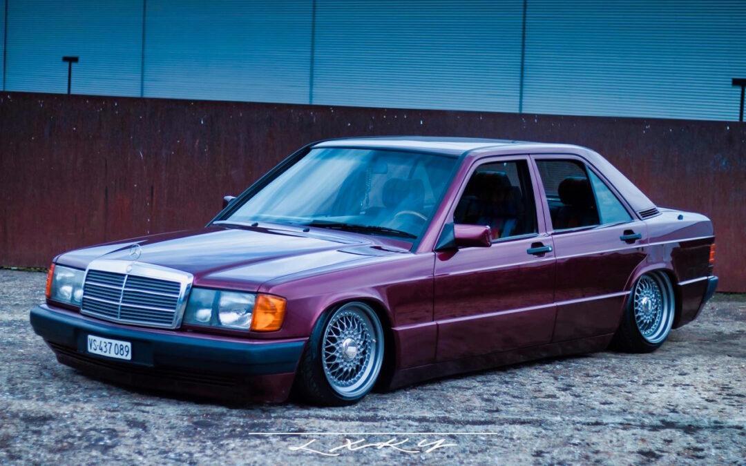 Bagged Mercedes 190 Avantgarde Rosso – Une occasion rare !