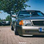 Bagged Mercedes 500 SL - Faut qu'ça raye !