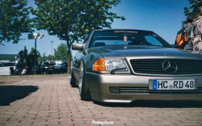 Bagged Mercedes 500 SL – Faut qu'ça raye !